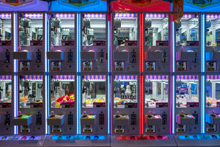 Tainan, Taiwan - September 25, 2018: Game Machines in an amusement park.