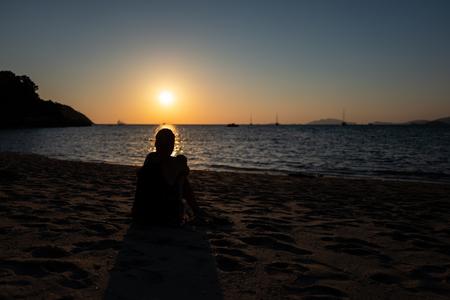 Sunset a Koh Lipe Sunset beach, Thailand.