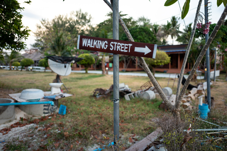 Walking Street sign in Koh Lipe, Thailand.