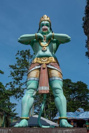 Blue Hindu statue at Batu Caves Kuala Lumpur