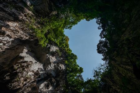View to the top of Batu Caves at Kuala Lumpur Фото со стока