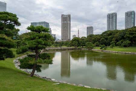 Hamarikyu Park in Tokio 版權商用圖片