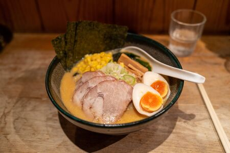 Ramen noodels with meat and egg in Tokyo, Japan Stockfoto