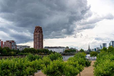 A dramatic skyline in Frankfurt, Germany Standard-Bild