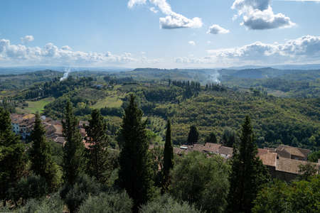 A view over Tuscany from San Miniato