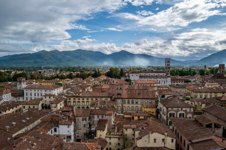A panoramic view over Lucca