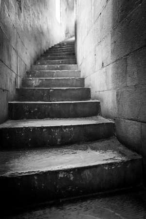 Stairs in the baptistery san giovanni in Pisa