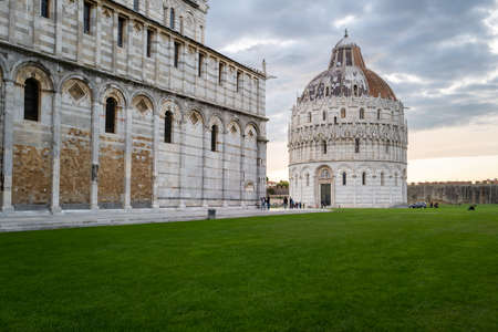 The cathedral and baptistery in Pisa