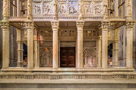 The church in Arezzo, Italy