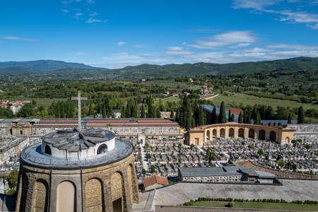 A view of the cemetery in Arezzo Standard-Bild