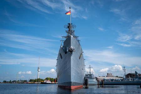 A war ship in Wilhelmshaven Standard-Bild