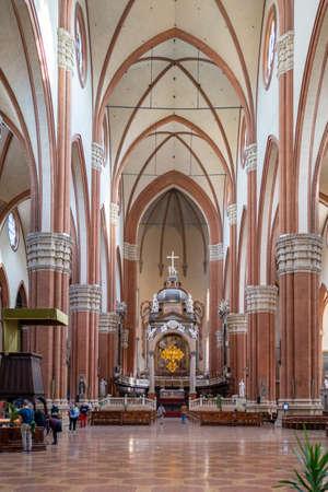Bologna, Italy - October 01, 2020: The Basilica San Petronio in Bologna. Editorial