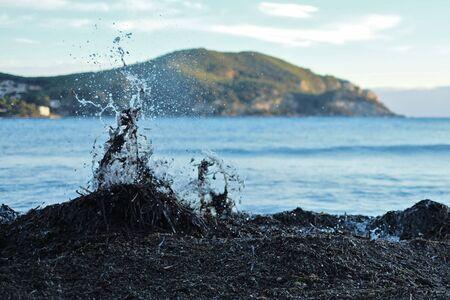 oil spill: Oil spill Stock Photo