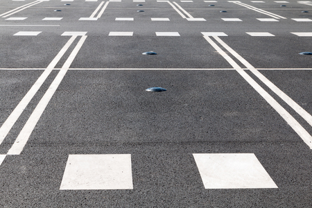 occupancy: Electromagnetic car parking sensor to indicate where open parking is located on city streets Stock Photo