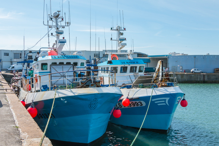 Saint Gilles Croix de Vie, France - July 27, 2016 : trawlers are returned to port after fishing off