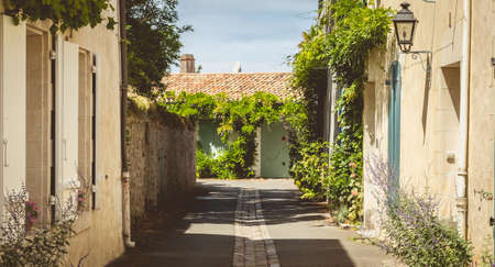 typical alley in the center of Noirmoutier, France