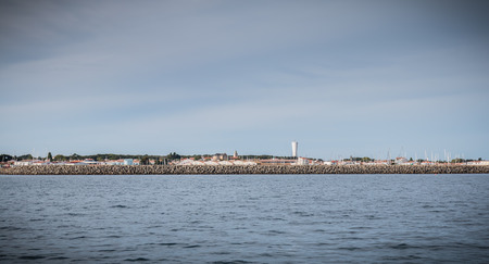 entrance to the port of Yeu island seen from the Atlantic Ocean