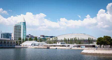 Lisbonne, Portugal - 7 mai 2018 - Vue de la salle d'exposition Altice Arena dans le centre-ville d'Expo un jour de printemps