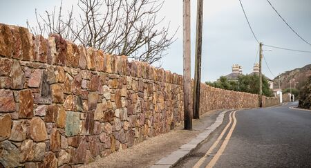 typical seaside lane near the town of Howth, Ireland