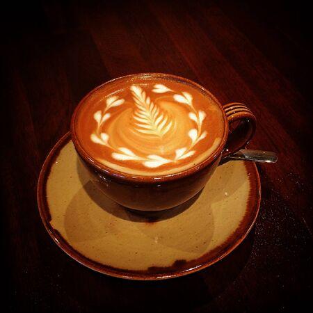 silver fern: Latte art Stock Photo