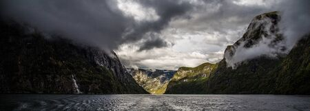 The Naeroyfjord. This dramatic, narrow fjord is one of the inner branches of the main Sognefjord, Norways longest fjord. This 18 kilometre long fjord is only 500 metres wide in some parts, with steep mountain sides and unbelievable, tiny farms clinging to the mountain sides.