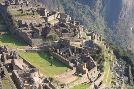 Machu Picchu is an Incan citadel set high in the Andes Mo