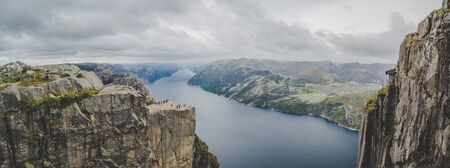 Views of the pulpit rock in Stavenger in Norway
