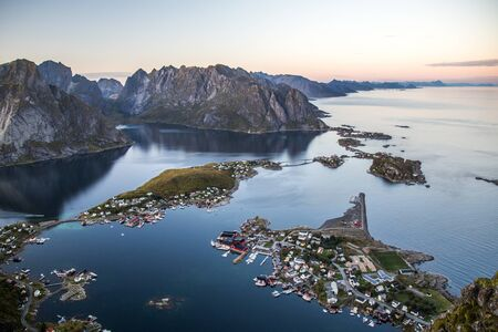 Views of Reine in Lofoten islands, in Norway Stock Photo