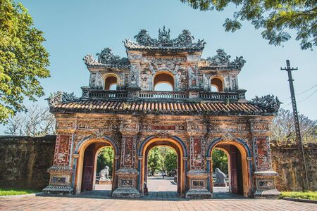 Hue is a city in central Vietnam that was the seat of Nguyen Dynasty emperors and the national capital