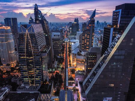 Ploenchit-Ansicht von oben in Bangkok in Thailand Standard-Bild