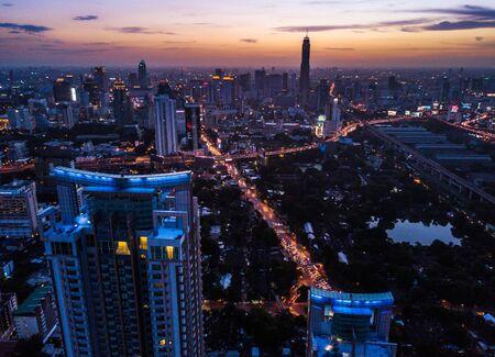 Ploenchit-Ansicht von oben in Bangkok in Thailand