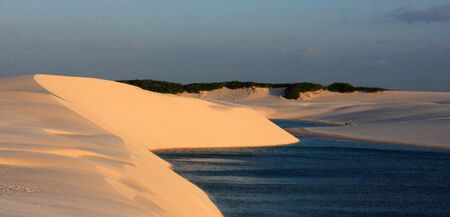 Lencois Maranhenses National Park in Brazil north Atlantic coast