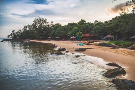 Koh Rong island, sunset and beach, in Cambodia Sihanoukville