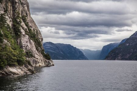 Lysefjord views from the cruise, in Stavenger, Norway