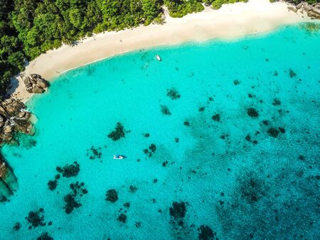 Similan island aerial views from above in Thailand 写真素材