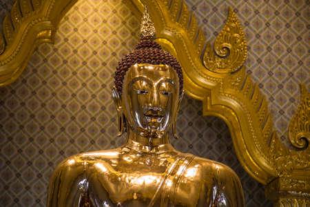 Golden buddha temple in Bangkok in Thailand