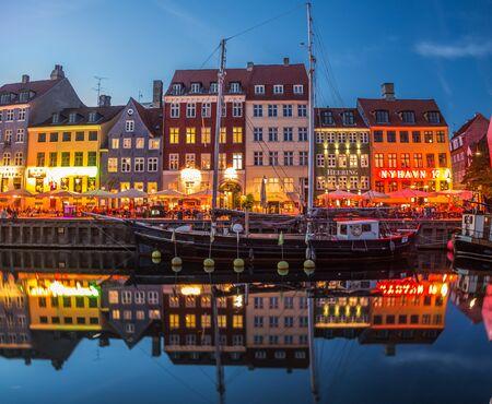 Copenhagen city and canal Nyhavn in Denmark