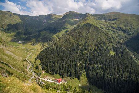 Transfagarasan road views in Eastern Europe Romania Archivio Fotografico