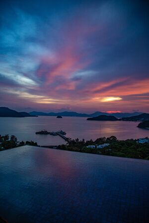 Phuket sunset views from baba nest beach club, in Thailand