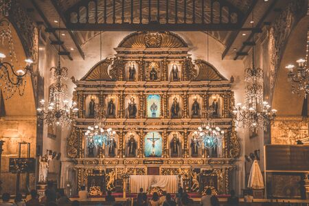 Views of Cebu church in central Philippines