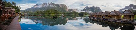 Khao Sok lake views in national park in Thailand