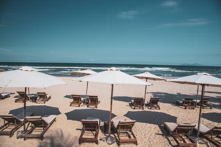 Da nang beach views, in central Vietnam Stock Photo