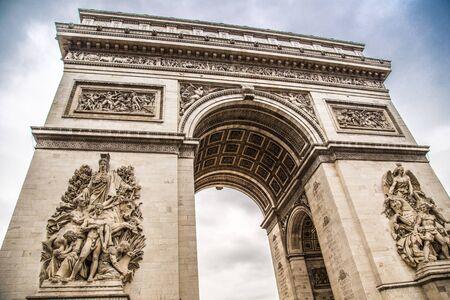 The Arc de Triomphe in Paris in France