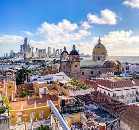 Straßen von Cartagena in Kolumbien Standard-Bild