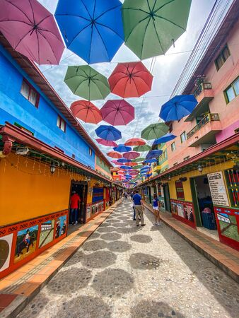 Guatape town in Colombia