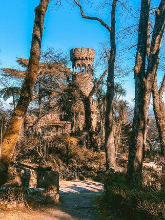 Quinta da Regaleira in Sintra Portugal Foto de archivo