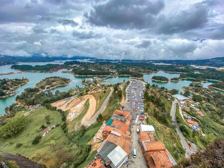 Piedra del Peñol in Guatape in Colombia Banque d'images