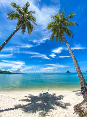 Laem Had paradise Beach in Koh Yao Yai, island in the andaman sea between Phuket and Krabi Thailand