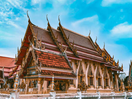 Walking around temples nong wang and Chao Por Lak Muang in Khon Kaen city in Thailand