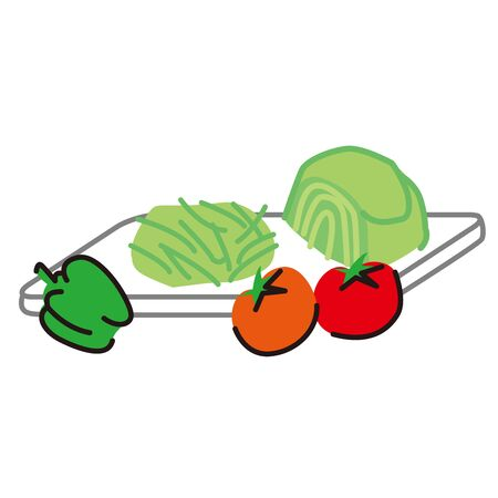 raw vegetables on cutting boards